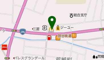 マクドナルド 286山形鉄砲町店の地図画像