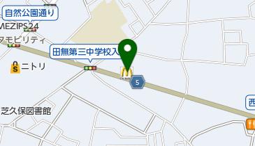 マクドナルド 新青梅田無店の地図画像