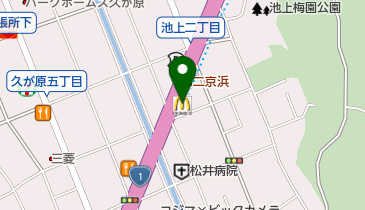 マクドナルド 1号線池上店の地図画像