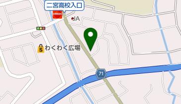 マクドナルド 二宮店の地図画像
