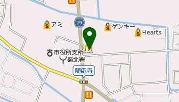 マクドナルド 春江店の地図画像