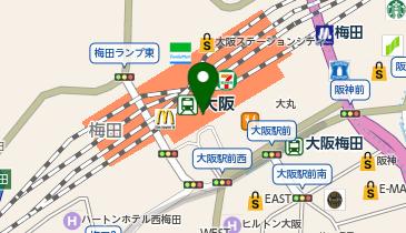 マクドナルド JR大阪駅桜橋口店の地図画像