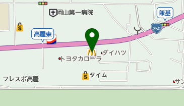 マクドナルド 岡山高屋店の地図画像