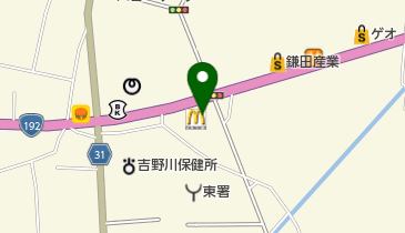 マクドナルド 192鴨島店の地図画像