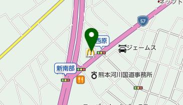 マクドナルド 熊本東バイパス店の地図画像