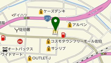 マクドナルド 佐伯店の地図画像