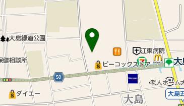 ローソンストア100 LS江東大島六丁目団地店の地図画像