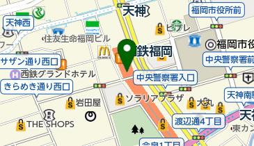 ローソン 西鉄天神高速バスターミナル店の地図画像