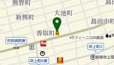 ローソンストア100 LS岐阜鹿島町店の地図画像