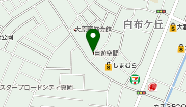 自遊空間 真岡店の地図画像