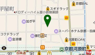 自遊空間アクティブ 京都新京極店の地図画像