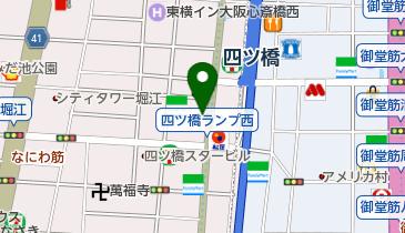 トヨタレンタカ- 四ツ橋筋心斎橋店の地図画像