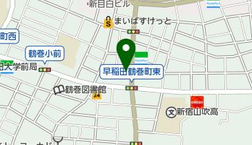 ニコニコレンタカー 早稲田鶴巻町店の地図画像