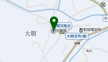 大朝郵便局の地図画像