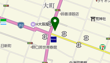 会津若松郵便局の地図画像