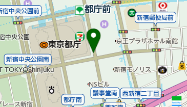 都庁天然ガススタンドの地図画像
