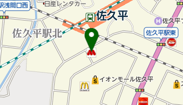 モスバーガー佐久平駅前店の地図画像