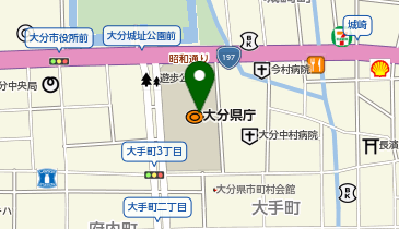 大分県庁(別館1階 県民ホール)の地図画像