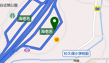東名高速道路 海老名SA 下りの地図画像