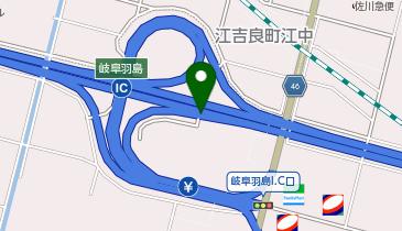 名神高速道路 岐阜羽島IC 下り 出口の地図画像