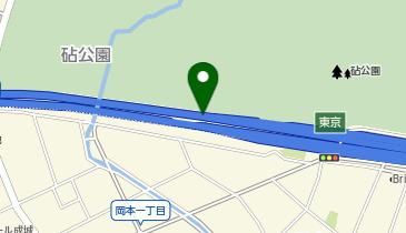 東名高速道路 東京IC 上り 出口の地図画像