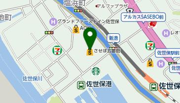 築地銀だこ させぼ五番街店の地図画像