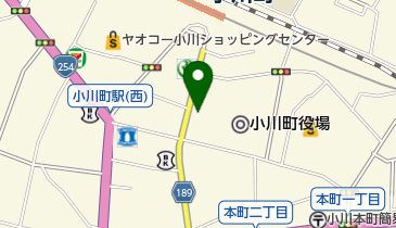 レンタサイクル 小川町観光案内所 楽市おがわの地図画像