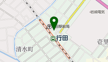 レンタサイクル 行田市観光案内所の地図画像