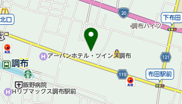日本キリスト教団 調布教会の地図画像