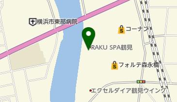 RAKU SPA(ラクスパ)鶴見の地図画像