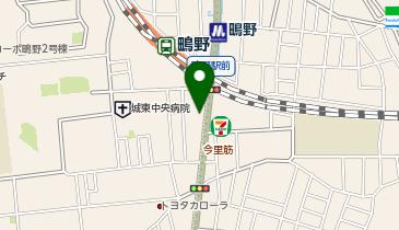 JR鴫野駅前駐輪場の地図画像