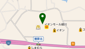 イオン 綾川店の地図画像