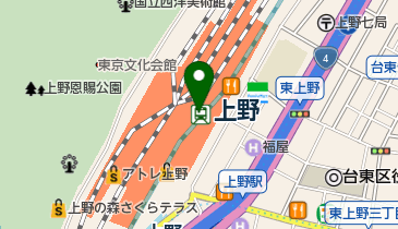 MISTER MINIT(ミスター ミニット) エキュート上野店の地図画像