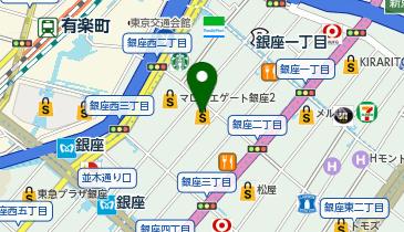 BURBERRY(バーバリー) 銀座マロニエ通りの地図画像