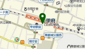京都 八百一 セレオ甲府店の地図画像