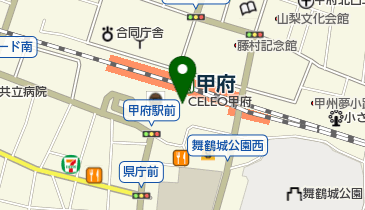 桔梗屋 黒蜜庵 セレオ甲府店の地図画像