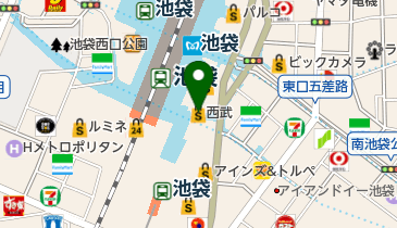 西武池袋本店の地図画像
