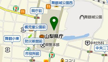 山梨近代人物館の地図画像