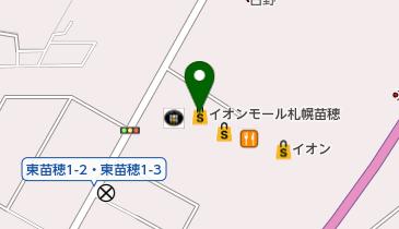 イッカ イオンモール札幌苗穂店の地図画像