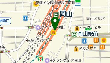 日本旅行TiS岡山の地図画像