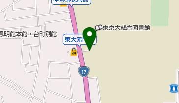 東京大学赤門の地図画像