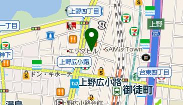 もみの湯 上野店の地図画像