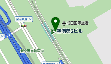 成田空港第2ターミナルの地図画像