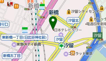 日本交通専用タクシー乗り場 日本テレビタワー乗り場の地図画像