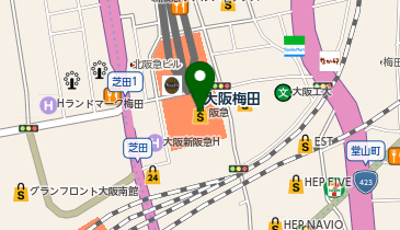 プチコノカ 梅田阪急三番街店の地図画像