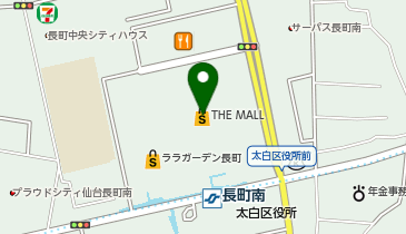ペットエコ ザ・モール仙台長町店の地図画像