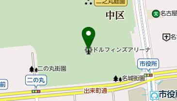 愛知県体育館の地図画像