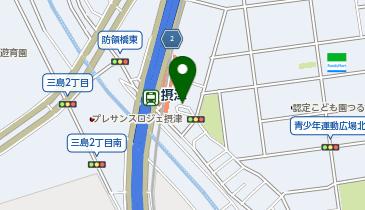 摂津駅 タクシー乗り場の地図画像