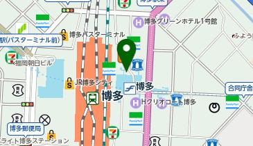 博多駅筑紫口 タクシー乗り場の地図画像