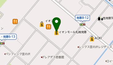風月 イオンモール札幌発寒店の地図画像